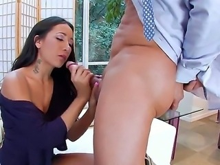 Mature teacher Amia Miley gets severly pounded by one horny student with a huge dick