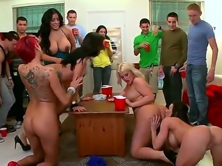 Jamie Valentine, Julie Cash, Kayla Carrera, Kendra Lust and Kiara Marie at the defiant college party