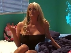 Super sexy milf Stormy Daniels has alluring body for handsome young guys