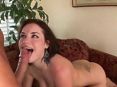 Tatiana Kush is a cock hungry Indian bimbo who sates her hunger for dick by...