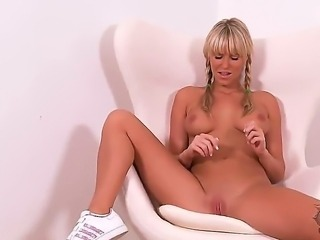 Blonde czech girl Sandra Hill has some pretty face and nice body with...