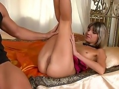 Doris Ivy moans during the pussy licking and screams riding this strong dick