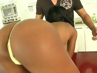 Tight ass arousing amateur Kiki Armani with natural juicy hooters teases and gives head to her horny lover