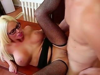 Nikita Von James with phat butt and smooth muff taking sex to the whole new level as she does it with horny fuck buddy Giovanni Francesco