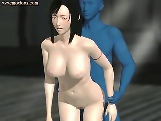 Animated gets fucked by blue cock