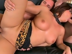 Bellina adores when two big yummy wieners are in her large mouth. She is able...