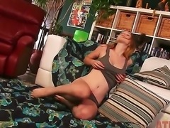Crazy amateur masturbation from Alaina Fox who has skinny but very hot body...