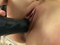 Pissing loving babe fond of dildo as she likes to keep a wet pussy