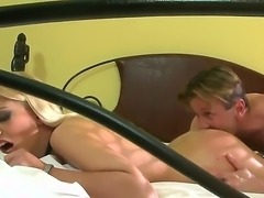 Check out hot Jessie Volt lie down on bed without moving and let Choky Ice do...