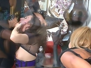 Valentina Blue and Patricia Dream are two dirty sluts and Rocco keeps them on a leash, so he can slap his cock against their faces and shove it deep in their throats.