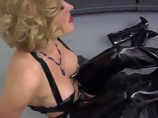 Dangerous blonde mistress Krissy Lynn dominates Deviant Kade in the public...