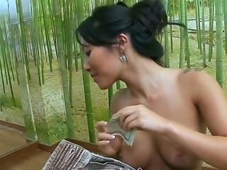 Gorgeous asian hotties Asa Akira and Tasha Lynn give nasty blowjobs and make...
