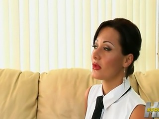 Goddess Sandra Romain suck, fuck, lick Katerina Kat feet... Anal sex, feet fetish. Sandra Romain show her perfect feet.