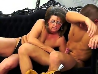 Pete is happy to offer his big, young cock in service of that mature pussy,...