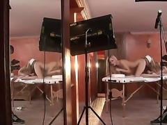 Relax seeing intimate massage with the continuation scene with Antonya and...