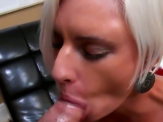 Enjoy delicious glamourous hot blonde chick Catarina sucking big dick in Juan...