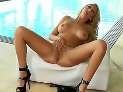 Marvelous amateur with perfectly lovely boobies removes her clothes in a...