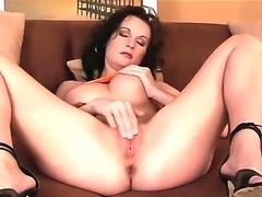 Wonderful Missy Preston is having one nasty solo masturbation over her tight...