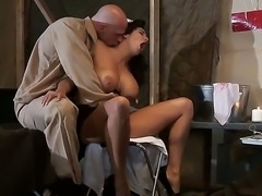 Hottie Missy Martinez enjoys having her big ttis and shaved pussy ravaged by...