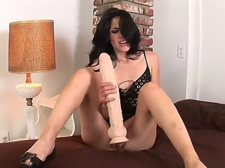 Wild fuck lover girl Berlin A rubbed her tight cunt and then got very big dildo and began to fuck her pussy with it in rather poses