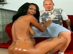Amazing black babe Asia is having her pussy nicely fingered by her man Josh,...