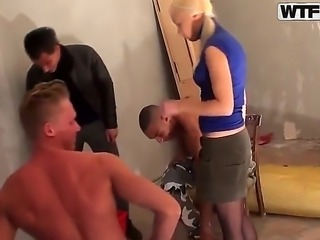 Delicious and hot blonde babe Dulsineya was invited for a hot group scene. This is her first group fucking action but she demonstrates amazing passion and hot desire!