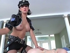 This shemale police officer Danika Dreamz