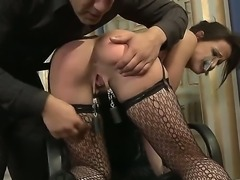 Andy Brown was a naughty secretary, so she needs to be punished hard. Her...