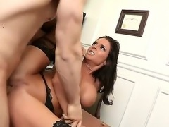 Mature in stockings Veronica Avluv get her tight pussy ravaged by hunk Erik...