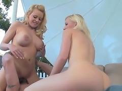 Beautiful blonde babes Heidi Hanson and sweet babe Kalia Hunt are enjoying...