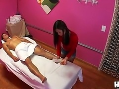 This petite Asian massage girl likes to make her male clients get horny...