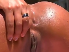 Sexy Leona Yamamoto with her hot oiled body wants lusty Loupan to devour her...