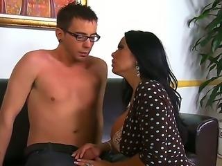 Hot Dane Cross gets seduced by his naughty mature teacher Sienna West