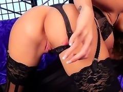 Danielle Maye demonstrating her sexy slender