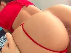Mischa Brooks butt is being licked and stretched by the tongue of insatiable...