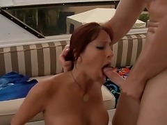 Levi Cash pounding hard Tara Holidays throat, she sucks great and gets...