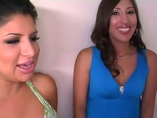 Sativa Rose shows to her young friend, Ann Marie Rios, how to seduce a...