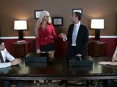 Nasty and eager to fuck secretary Tori Black enjouys pelasing her horny boss...