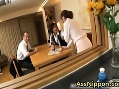 Asian Babe gets both Holes Fucked