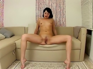 Annette is young and cute girl. She looks very modest and gentle, but this brunette is real fire. She enjoys to feel something hard moving hot in her super tight asshole!