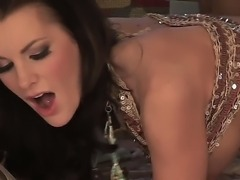Cock hungry stunning brunette cougar Brandi Edwards with big fake hooters and...