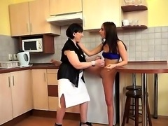 Breahttaking lesbian sex with these mature and young hotties would make you...