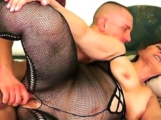 Beautiful brunette chick with unshaved pussy is waiting for us here to share her xxx video where she gets banged by younger stud! Examine what he does with the old bitch.