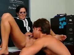 Hot milf teacher Ava Addams gives