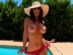 Voluptuous Jayden Jaymes is getting awfully horny as she squeezes her perky...
