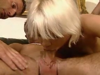 3 Bi-Euro guys and Euro Blonde got at it