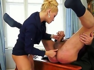 Chary Kiss is a very strict boss but she is ready to do everything to make her clients satisfied. Even suck his cock. And she always brings them to explosive orgasm