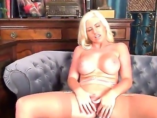 Gorgeous blonde bitch Chloe Dee showing her beautiful and huge boobs and...