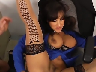 Horny and beautiful teacher Lisa Ann sucks the dick of her student Johnny Castle and he teases her bubble butt