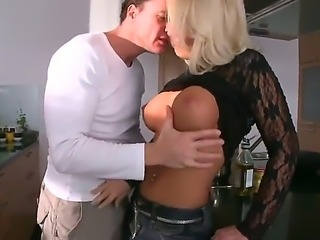 Busty blonde Sarah Simone enjoys having her wet cunt smashed in hardcore